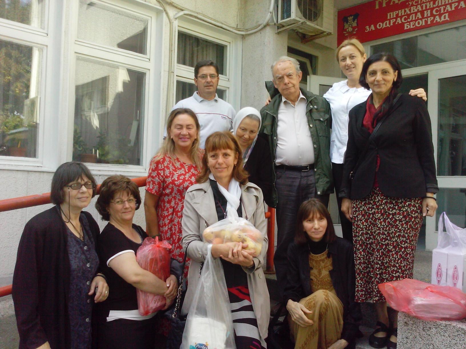Посета прихватилишту за одрасла и стара лица у Београду 02.10.2016.год.