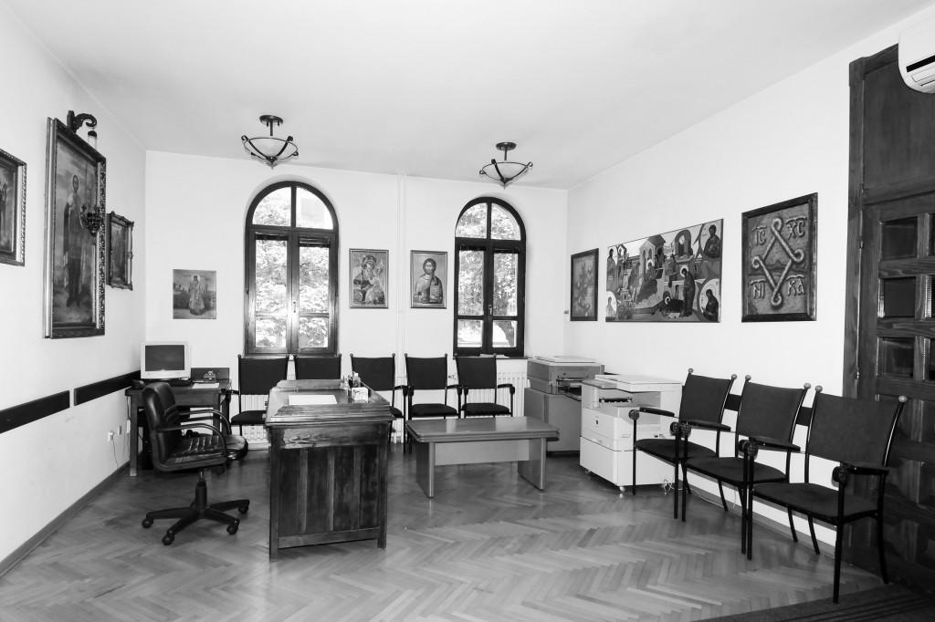 Свештеничке канцеларије у новом парохијском дому